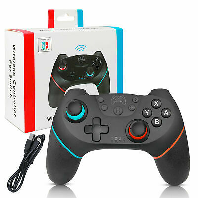 Wireless Pro Controller Gamepad Joypad Remote for Nintendo Switch Console Black