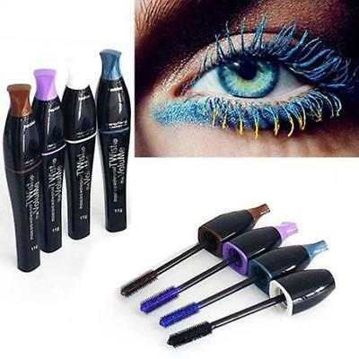 Mascara Waterproof charme durable coloré cils maquillage 4 couleurs