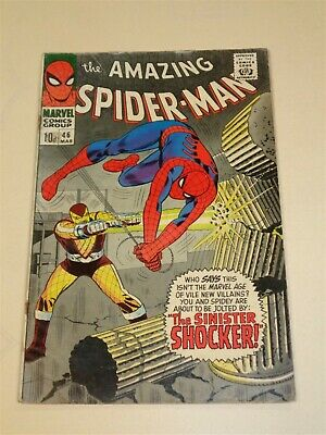 Amazing Spiderman #46 Vg (4.0) Marvel Comics 1St Shocker March 1967 (Sa)<**