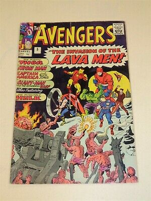 Avengers #5 Vg (4.0) Marvel Comics May 1964 (Sa)<**