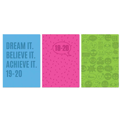 2019 2020 A5 Week to View Academic Mid year Flexicover Student Teacher Diary
