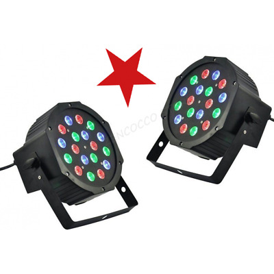 PAR 18 led x 1 Watt FARO RGBW DMX STROBO FLASH WASH PROGRAMMABILE o 1€ catalogo