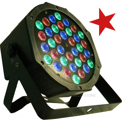 PAR 36 LED x 1 Watt FARO RGBw DMX STROBO FLASH WASH PROGRAMMABILE o 1€ catalogo