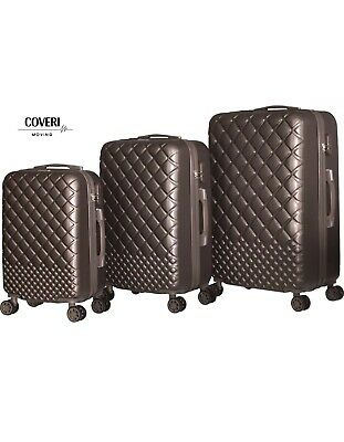 Trolley Set 3 Valigie Da Viaggio Rigida ABS Coveri Moving