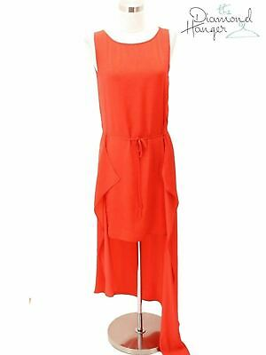 355a11e74d A66 BCBG MAX AZRIA Designer Dress Size XXS 00 0 Orange Solid Asymmetrical  Sleeve