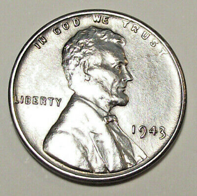 1943 Lincoln Wheat Cent - Zinc Over Steel (Lot Y404)  See Photos!