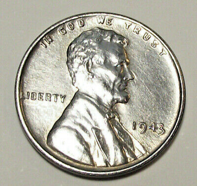 1943 Lincoln Wheat Cent - Zinc Over Steel (Lot Y408)  See Photos!