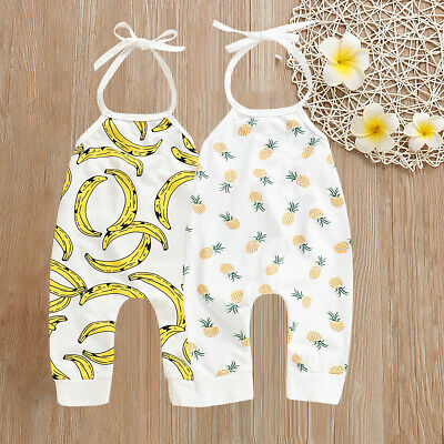 200f2c59802b New Summer Newborn Kids Baby Girl Floral Romper Jumpsuit Playsuit Clothes  Outfit