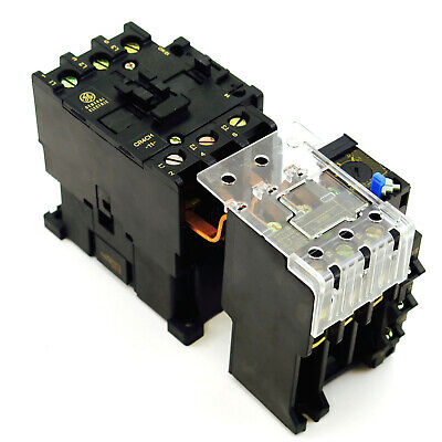 New GE Magnetic Starter Choose Contactor Coil Voltage & Overload Relay Amp Range