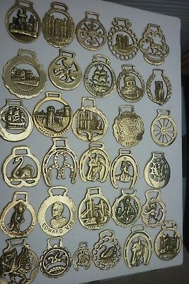 80 ASSORTED HORSE BRASSES ~ (8A) ~ COMBINE POST 1st @ £1.25 + EXTRAS @ 65p EACH