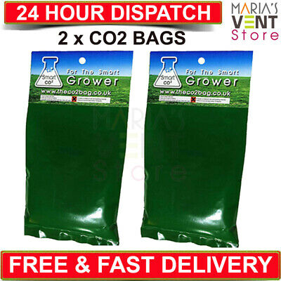 2 x Smart Organic Co2 Bags Hydroponic Growing Yields 5-15 M2 Area SPECIAL OFFER