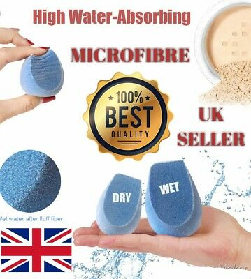 2 X Hottest Microfiber Dual Layer Makeup Sponge For Cosmetic Blue Microfibre