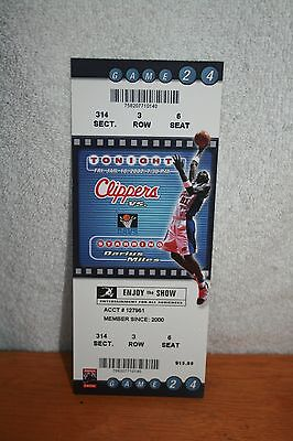 2002 Cleveland Cavaliers vs Los Angeles Clippers FULL TICKET * 1-18-2002 Staples