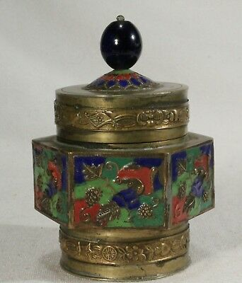 Antique Chinese Tea Caddy / Fruit Themed