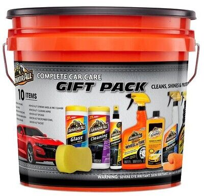 Armor All 10-Piece Car Care Kit Gift Pack Complete Auto Detailing Wax Clean Wipe