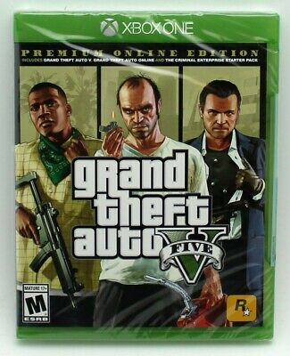 Grand Theft Auto V Xbox One Premium Online Sealed US NTSC Physical Game