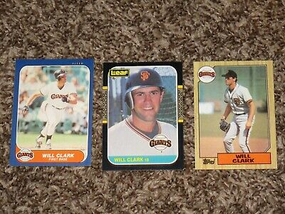 Sports Mem, Cards & Fan Shop 1987 Donruss #66 Will Clark Rookie 2 1986 1 Topps Traded #24t Will Clark Lot 3
