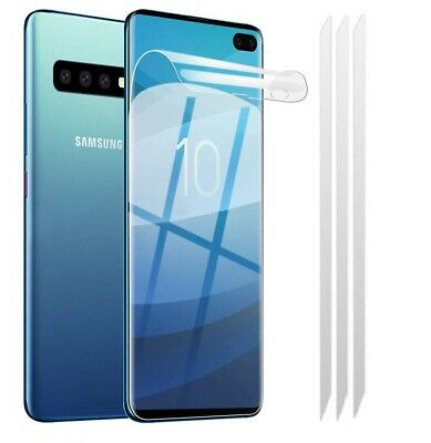 3x Samsung Galaxy S10 [FULL COVERAGE] Clear TPU LCD Screen Protector Covers