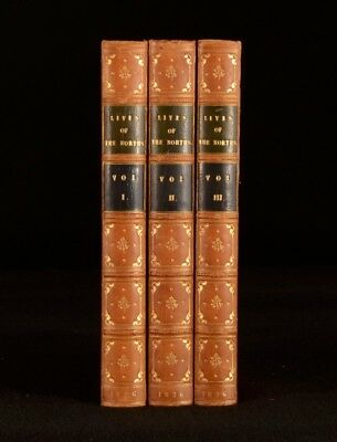 1826 3vol The Lives of the Norths Francis North Charles II James II Popish Plot