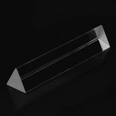 15cm Optical Glass Triple Triangular Prism Physics Teaching Light Spectrum 1pc