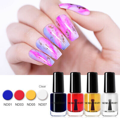 Nail Polish Gel Varnish Watercolor Ink Gradient Marble Blooming Manicure 6/15ml