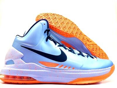 reputable site b066a 5d3a3 Nike Kd V Kevin Durant Basketball Ice Blue orange Size Men s 17  554988-