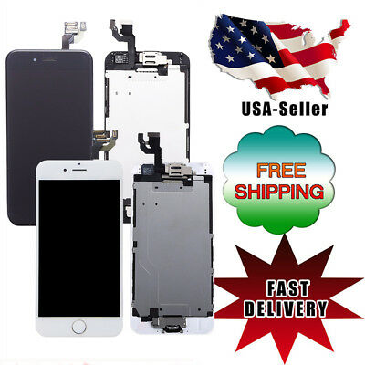 'For iPhone 6 A1549 A1586 LCD Touch Screen Replacement with Home Button+Camera#
