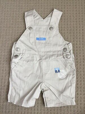 Sprout baby boys Cream overalls size 000