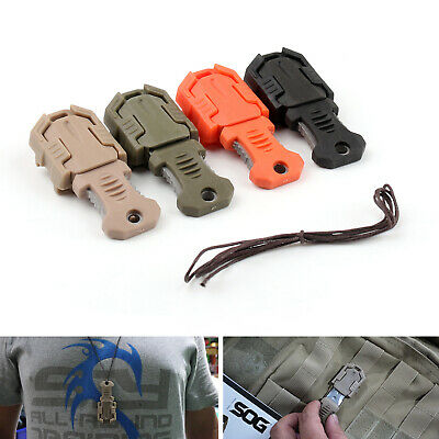 "Mini Pocket Molle 1"" Webbing Self Defense EDC Multi Tool Stainless Steel/A5"