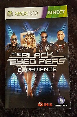Instruction/Booklet/Manual Only - Xbox 360 -  Black Eyed Peas Experience Kinect