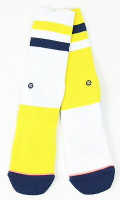 729abd5e0af Stance Womens Michigan State Crew Socks White Yellow M New