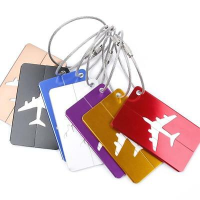 Travel Accessories Aluminum Luggage Tags Suitcase ID Address Holder Baggage Boar