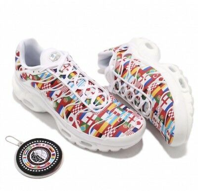 1b1fea375d Nike Air Max Plus NIC QS Size 9 White Multi Color AO5117 100 World Cup New