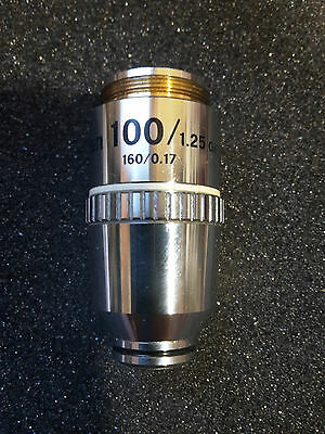 NIKON100X  E PLAN 100/1.25 OIL  160/0.17 Microscope Objective Optiphot Labophot
