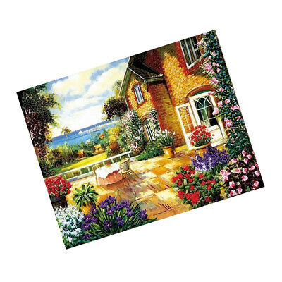 DIY Needlework Cross Stitch Crafts Ribbon Embroidery Kit Flower Painting