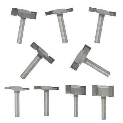 9 Pack Router Bit 1/4 T-Type Slotted Milling Cutter Carbide Milling Cutter