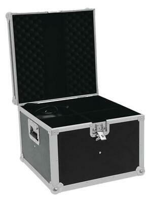 Roadinger Flightcase EP-64 4xPAR-64 Spot kurz Scheinwerfer Transport Case Black