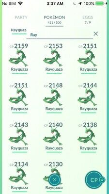 Pokemon Go Rayquaza Cheap~ Registered only ~ (read for unregister) Cheap~