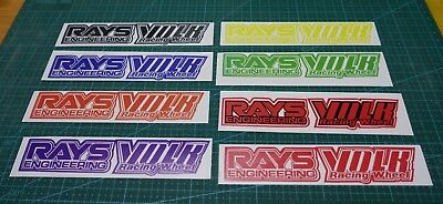 TE37 LE37 Stickers Decals RACING WHEEL VOLK SET OF 4 FREE WORLD WIDE SHIPPING