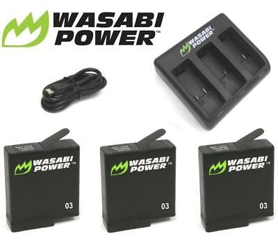 Wasabi Power Battery and Dual/Triple USB Charger Kit for GoPro HERO7,6,5,4,3+,3