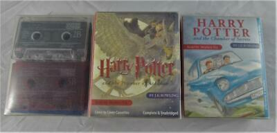 3 x Harry Potter Audio Books Cassettes - Books 1, 2 and 3