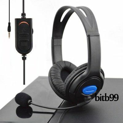 Wired Gaming Headset Headphones with Microphone for Sony PS4 PlayStation 4 PC #