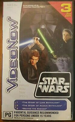 Video Now PVD 3 Disc Set - Star Wars Triple Pack - Hasbro VideoNow