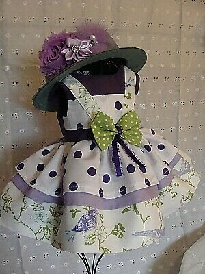 "Doll Clothes Fit 18"" American Girl, Handmade, New Easter Lavender Print"