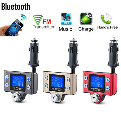 Bluetooth Wireless FM Transmitter USB Charger Hands Free Car Kit  Radio Adapter