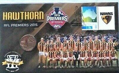 2015  $1 AFL  Hawthorn Premiers - Price Is For 2 Consecutive PNC Numbered 311-12