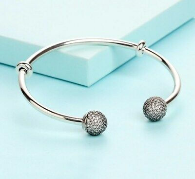 Bangle Bracelet Shine Moments Open Bangle Pave Ball Signature Bracelet Pendants