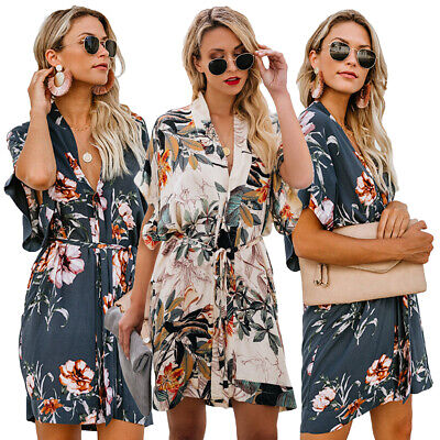 Women Summer Print Floral Maxi Dress Evening Club Party Hoilday Gown Sundress
