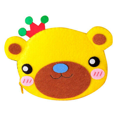 Non-woven Fabric Felt Applique Ornament Kit DIY Felt Bear Coin Purse Wallet