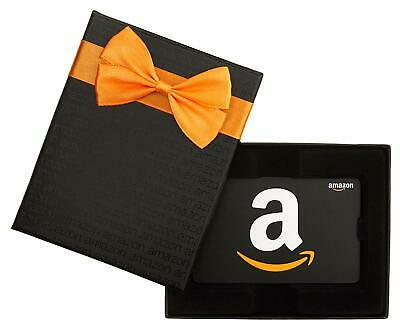 $25 Us Amazon Gift Card in a Black Box (Can Arrive Before According Ship Free)